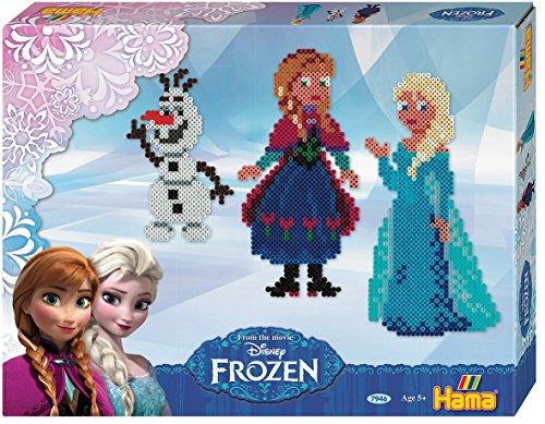 Hama 7946 - Geschenkpackung Frozen, ca. 4000 Bügelperlen, 2 Stiftplatten und Zubehör