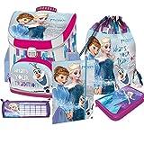 Frozen Castle ELSA - Die Eiskönigin Schulranzen Ranzen Schulrucksack Rucksack Set mit Gummizugmappe Incl. Regenschutz von Nicos-Schulranzen