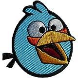 Parches - Angry Birds Comic niños - azul - 5,8x5,6cm - termoadhesivos bordados aplique para ropa