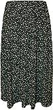 WearAll - Übergröße Damen Bedruckt Rock Mit Gummizug In Der Taille - Schwarz Weiß - 52-54