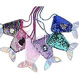 GoMerryKids Pack of 3 Sequins Mermaid Sling Bag for Girls Kids Birthday Return Gift