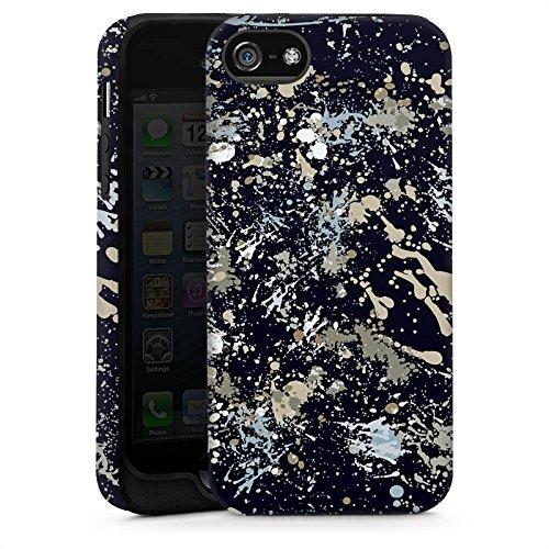 Apple iPhone 5 Housse Étui Silicone Coque Protection Camouflage Taches de couleur Motif Cas Tough brillant