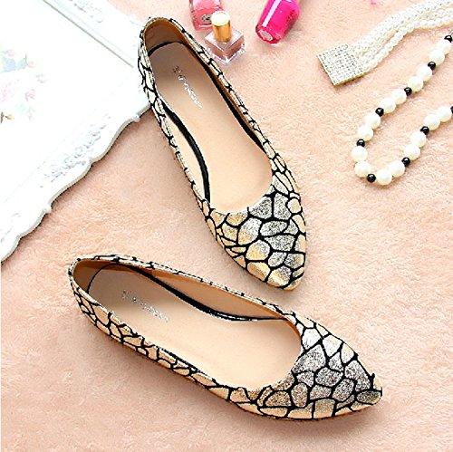 &qq Fashion ladle chaussures femmes, chaussures plates, plates avec des chaussures de bateau 38