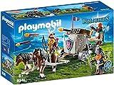 PLAYMOBIL Knights 9341 Carruaje de Caballos con Ballesta Enanos, A Partir de 5 años, Multicolor (geobra Brandstätter
