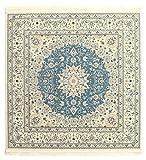 Tappeto Nain Emilia - Azzurro 150x150 Tappeto Orientale, Quadrato