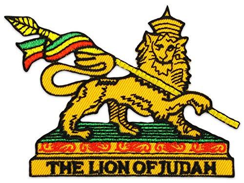 Afrika-patch (The Lion of Judah Aufnäher Aufbügler Patch Reggae Jamaika Afrika Black Music Party (Klein ))