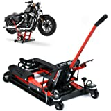 Cric de moto - 680 kg - Pour moto, élévateur hydraulique Rouge