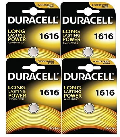 Duracell CR1616 Lot de 4piles bouton Lithium 3V