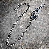 4b80f4c439b7 TENGGO Personalidad Escorpión Cuero Gruesa Cadena Metal Pantalones Cadena  Cientos Hombres Y Mujeres Deben-Tienen