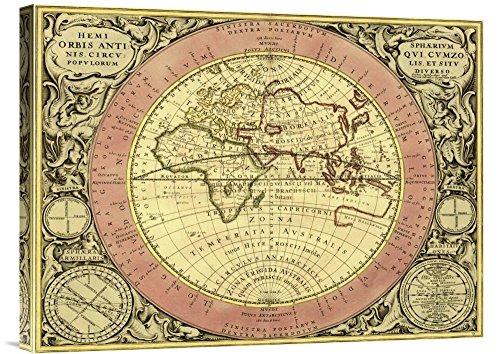 Global Galerie Budget gcs-450100-4.633-360,7cm Andreas Cellarius (Astronom) Karten der Himmel: hemisphaerium Orbis antiqui Galerie Wrap Wandbild Giclée auf Leinwand Kunstdruck - Orbis Galerie