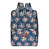 Candy rosa Vintage Floral Print Mujeres Mochila Bolso de mano bolsa de viaje bolso de escuela para niñas RC107 Multicolor RC117
