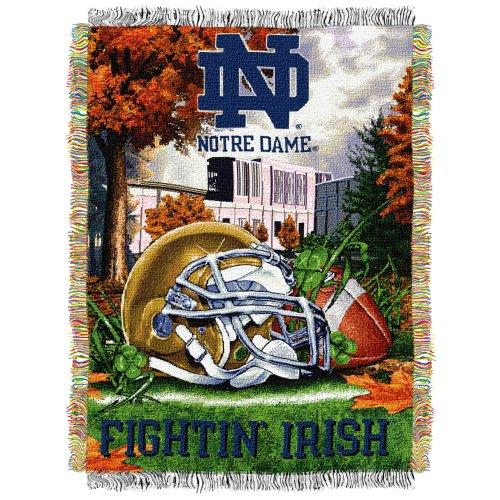 NCAA Notre Dame Fighting Irish Home Field Advantage gewebte Überwurf, Herren Unisex Damen, COL051010010RET, Notre Dame Fighting Irish