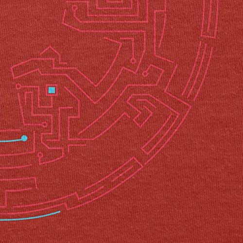 TEXLAB - Geteilte Galaxie - Herren T-Shirt Rot
