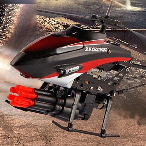 Zantec bambini giocattoli radiocomandati mini aereo telecomandato a 2 motori con regalo di natale in plastica giocattolo elicottero da 6 bambini missili
