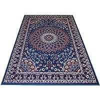 webtapis tapis pas cher style persan tapis classique couleur azur royal shiraz 2082 light - Tapis Pas Cher