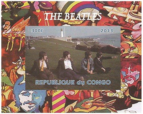 I Beatles francobolli da collezione - seduto su una collina - Imperforate francobollo minifoglio miniatura - condizioni superbe e mai incernierate - 2013 / Congo / 300F