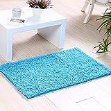 XINQING sanitäre absorbierenden tür mats Foyer Badezimmer wc tür Pedal Antiskid Matte Matte Platz 50 x 80 cm,blau