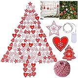 Outgeek 120PCS Natale Appeso Ornamento Fai da Te Artigianale...