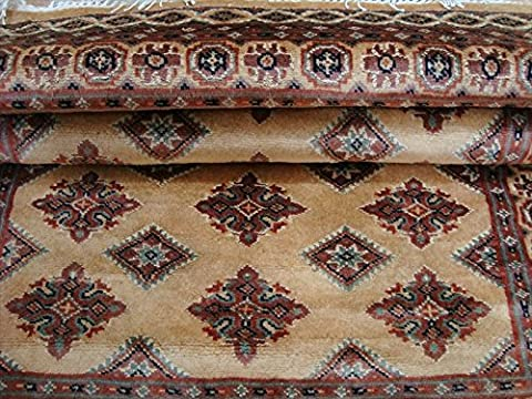Awesome Jaldar Bokhara Soft Rectangle Area Rug Hand Knotted Wool