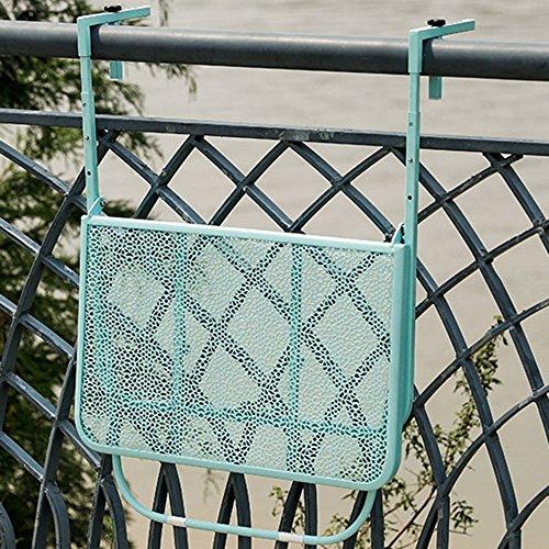 LINA Table Pliante - Table Suspendue réglable en Hauteur Table Suspendue pour Balcon, extérieur, Table Pliante en Fer forgé, 60x40cm (Couleur : Bleu)