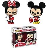 Lot de 2Figurines Pop! Disney St-Valentin Mickey & Minnie Exclusive