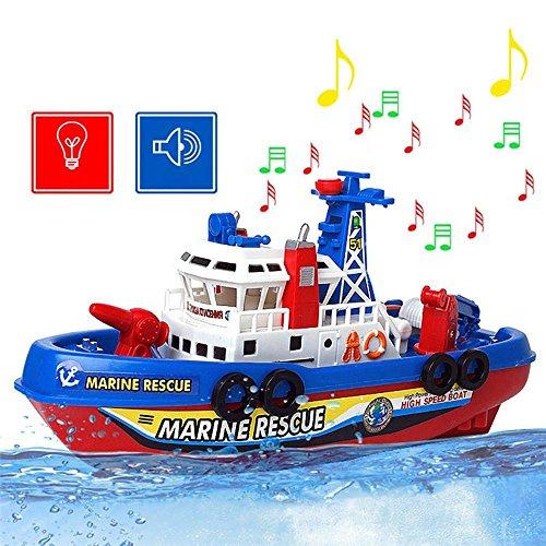 Mmrm Neu Hochgeschwindigkeit Hochleistung Musik Licht Elektrische Marine Rettung Feuerwehr Boot Spielzeug
