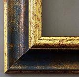 Bilderrahmen Acta Blau Gold 6,7 - WRF - 30 x 40 cm - 500 Varianten - Alle Größen - Handgefertigt - Galerie-Qualität Antik, Barock - Fotorahmen Urkundenrahmen Posterrahmen