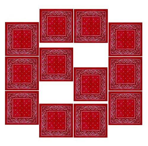 BOOLAVARD 100% Cotone, 1, 6 o 12 Confezioni Bandane con Motivo Paisley Originale | Scelta di Colore
