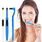 HOPEMATE Detartrage Dentaire Outil, 3 pièces Detartreur Dissolvant De Tartre Professionnel, Polisseur dentaire Blanchiment, N