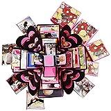 #5: Newcyclic 4 Layered Romantic Handmade Explosion Box for Birthday, Anniversary, Valentine Day, Gift for her, Gifts for him, Gift for Wife, Gift for gf