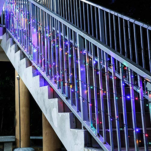 Catena Luminosa Solare, 500 Stringa Luci Solari, 165ft / 24DC / 8 Modi, Colorato Illuminazione Fata Esterno per Festa, Giardino, Natale, Halloween, Matrimonio