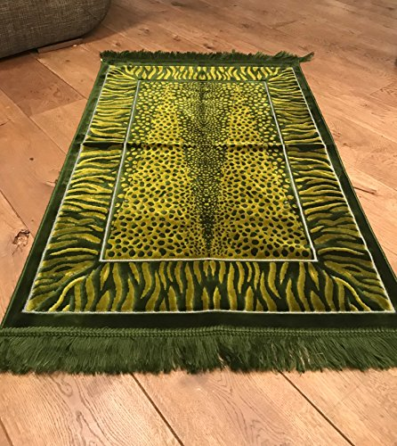 gebetsmatte, Islamische Plüsch Teppich (sajjadah janamaz Seccade) Olive - Islam-teppich