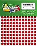 540 Klebepunkte, 12 mm, rot, aus PVC Folie, wetterfest, Markierungspunkte Kreise Punkte Aufkleber