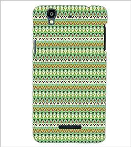 MICROMAX YU YUREKA ZIG ZAG PATTERN Designer Back Cover Case By PRINTSWAG