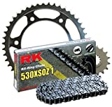 RK Racing Chain 1102-080W Steel Rear Sprocket and 530XSOZ1 Chain 20,000 Mile Warranty Kit