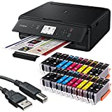 Canon PIXMA TS5050 3 in 1 Multifunktionsdrucker (Drucken, Scannen, Kopieren, WLAN, Duplex, 4.800 x 1.200 dpi) mit 20 EasyInk Patronen, USB-Kabel