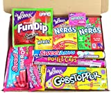 Mini American Wonka Hamper Candy/Chocolate/Nerds/Sweets Christmas/Birthday Gift - in a White Card Box