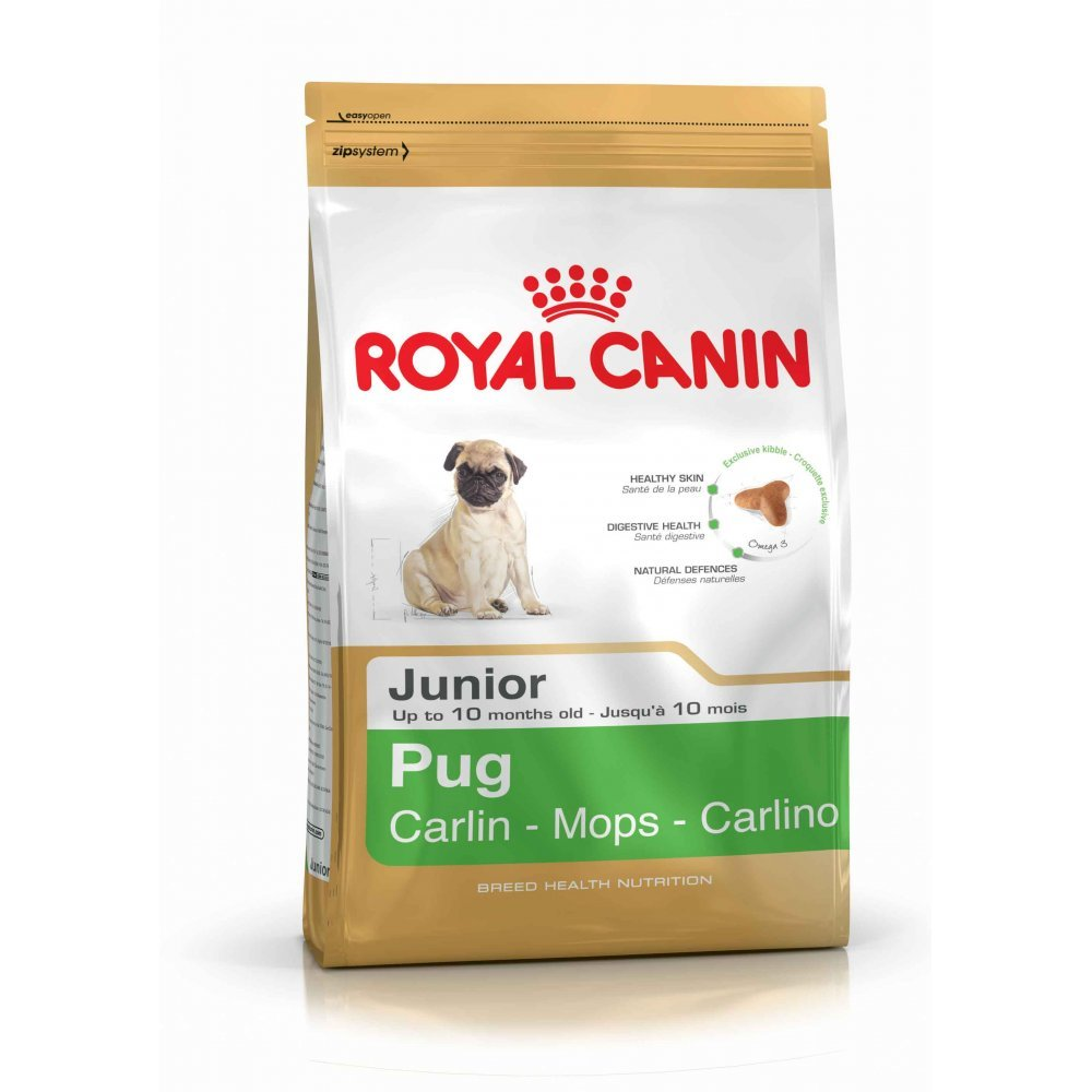 3kg Royal Canin Royal Canin Pug Junior (2x 1.5kg) Supplied by Maltby's UK