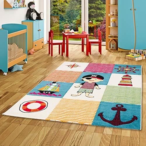 Kinder und Spiel Teppich Savona Kids Piratenwelt Bunt in 5 Größen