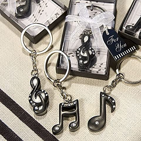 Musical Note Keychains: Music Wedding Favors, 144 by Fashioncraft (Musical Note Keychain)