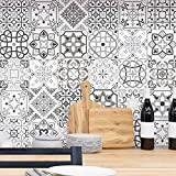 Ambiance-Live col-tiles-ROS-A916_15x15cm Stickers adhésifs carrelages, Multicolore, 15 x 15 cm, Set de 30 Pièces