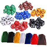 Kuuqa 7 x 7 (49 Pezzi) Dadi poliedrici 7 Colore Dadi di gioco