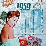1959 Geburtstag Geschenken - 1959 Chart Hits CD und 1959 Geburtstagskarte
