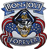 Bon Jovi Forever EMBROIDERED PATCH Badge Iron-on, Sew On 4- FREE SHIPPING by EasyBuyingShop