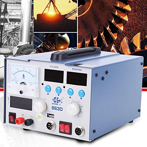 3 in 1 Heißluftstation 863D SMD Rework Station mit LCD-Anzeige und Temperaturregelung Digital Lötstation
