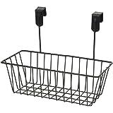 FORKLS Multifunctional Metal Storage Basket Kitchen Storage Rack Over The Cabinet Door Wire Storage Basket (White)