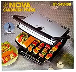 Nova NT-245 HDG Heavy Duty Commercial Sandwich Grill Press- 2200Watts