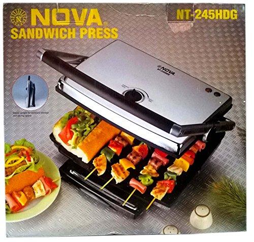 Nova Nt-245 Hdg Heavy Duty Commercial Sandwich Grill Press- 2200watts