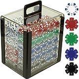 Trademark Poker 1000dice Striped chips in acrilico vettore, 11.5GM, trasparente