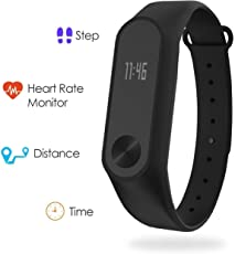 Boltt Fit Heart Rate Monitor with Free 3 Months Personalized Health Coaching - Fitness Activity Tracker Smart Band Bluetooth Watch Pedometer Step, Distance for iOS & Android Smartphones